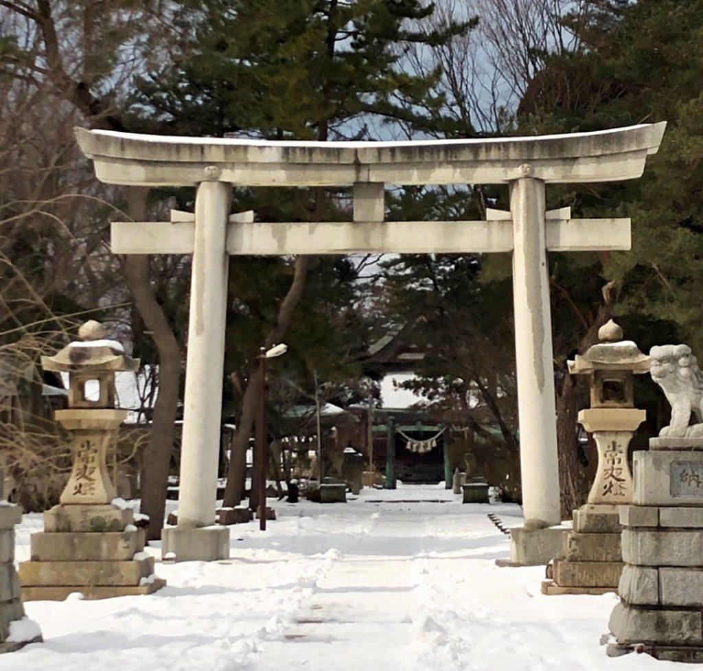 日吉八幡神社 石鳥居