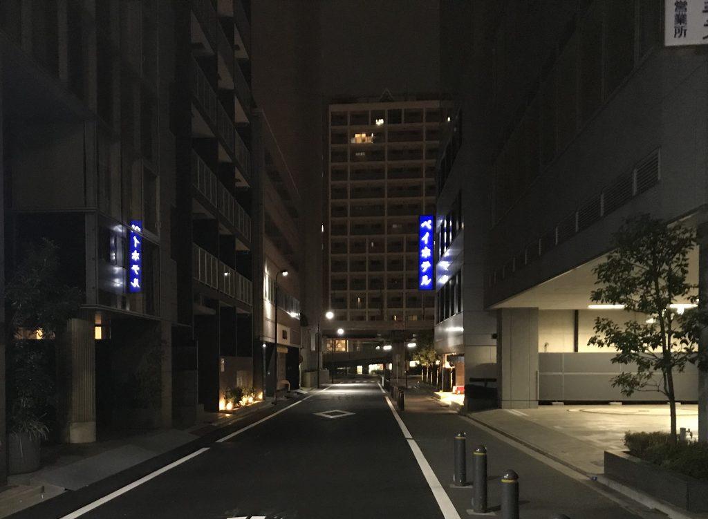 ホテルまでの道のり
