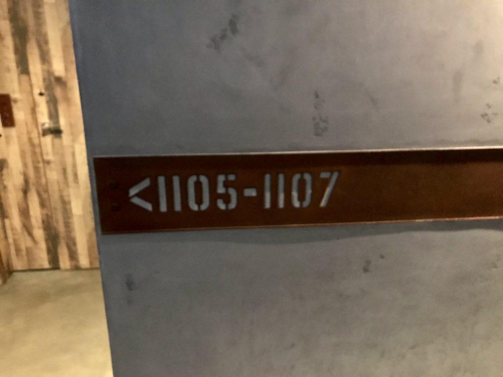 客室サイン