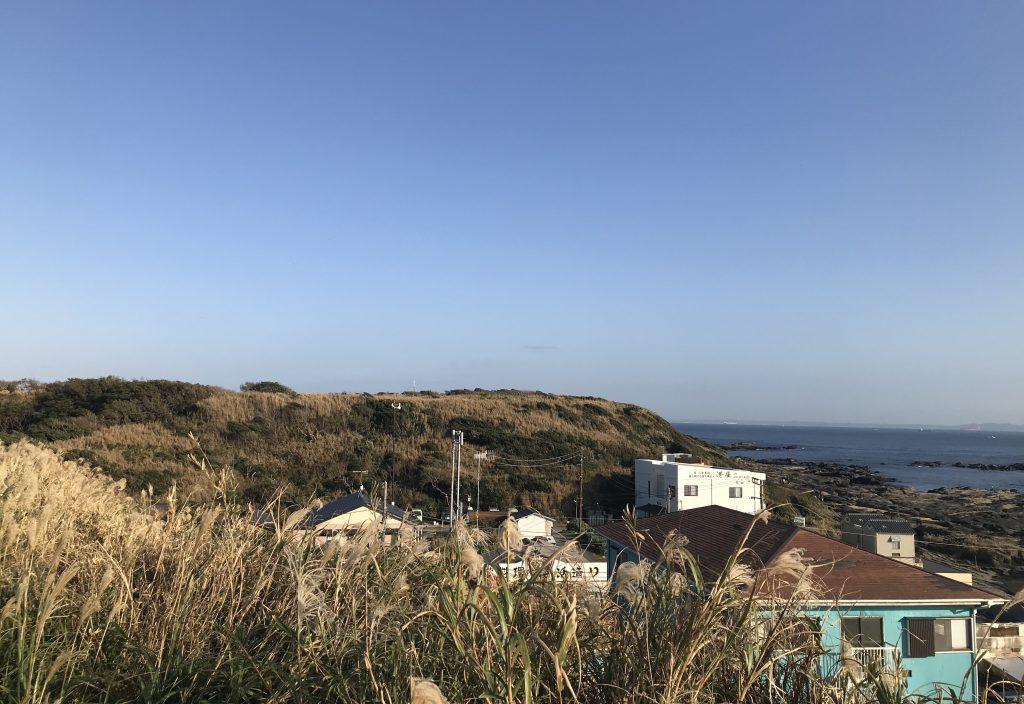 灯台前からの景色