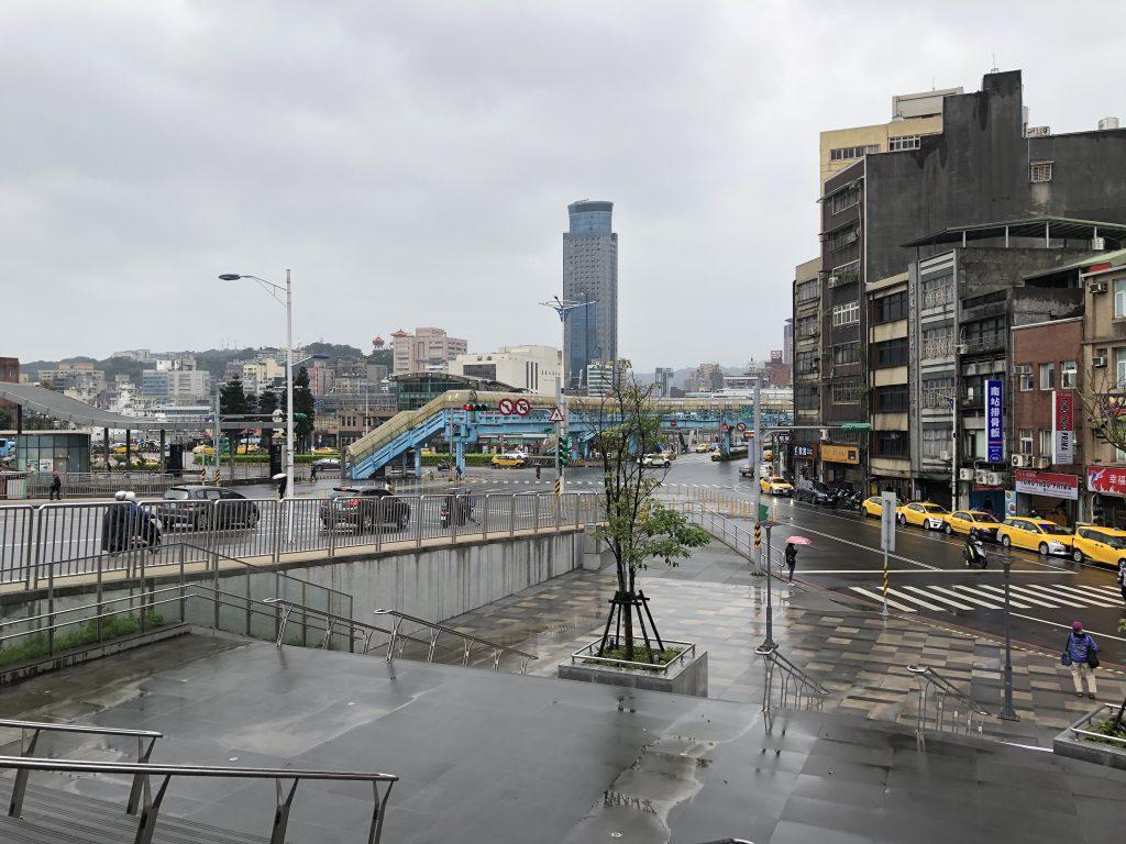 基隆駅からの景色
